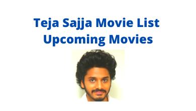 Teja Sajja Upcoming Movies