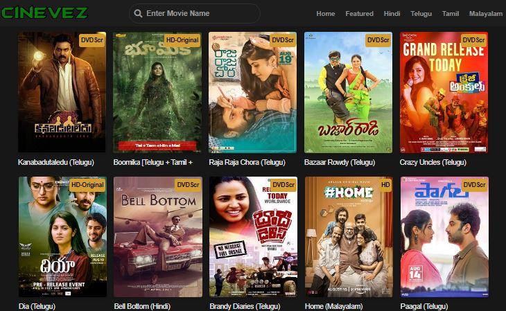 cinevez 2021 telugu movies download